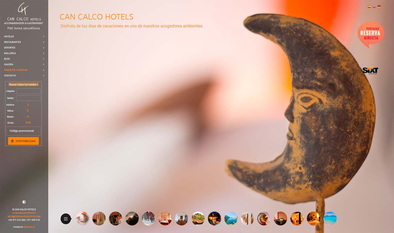 Diseño Web Can Calco Hotels